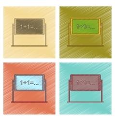 Assembly flat shading style icon school blackboard vector