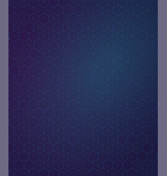 Background blue and purpule gradient hexagon vector