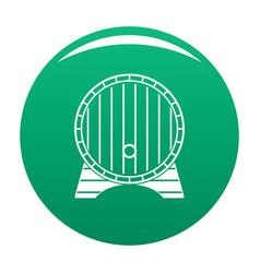 beer barrel icon green vector image