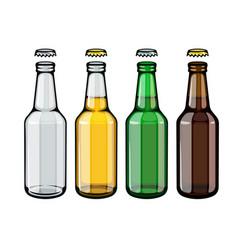 beer bottles set empty vector image