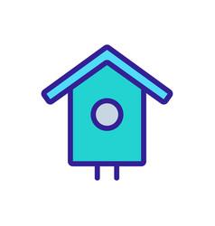 Bird house icon isolated contour symbol vector
