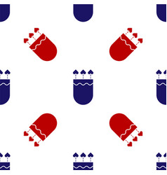 Blue and red quiver and arrows with heart icon vector