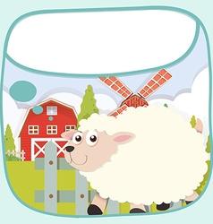 Border design with sheep on the farm vector