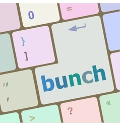 bunch word on computer keyboard key vector image vector image