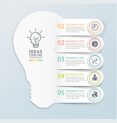 business ideas infographics template background vector image