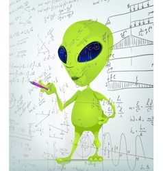 Cartoon Alien Maths vector image