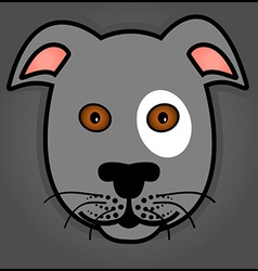 Cartoon grey dog vector image