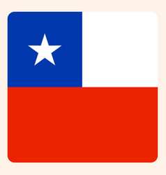 chile square flag button social media vector image