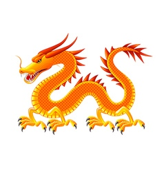 Chinese dragon isolated on white vector image