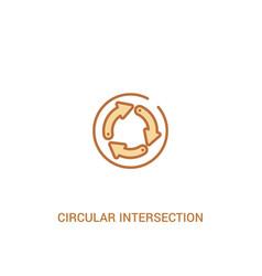 Circular intersection concept 2 colored icon vector