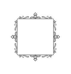 Classic elegant vintage square frame vector