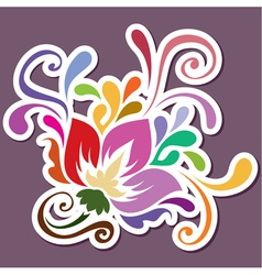 Color swirly decoration in vector