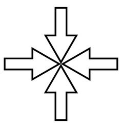Compact Arrows Stroke Icon vector