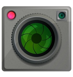 Compact camera with a lens vector