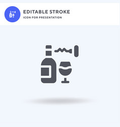 corkscrew icon filled flat sign solid vector image