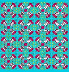 day dead mexican talavera ceramic tile vector image