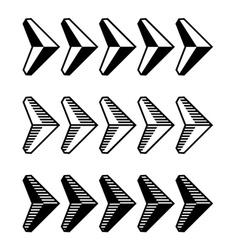 decoration arrow black symbol vector image