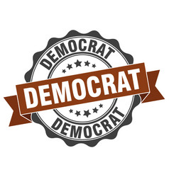 Democrat stamp sign seal vector