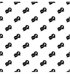 dialog pattern seamless vector image