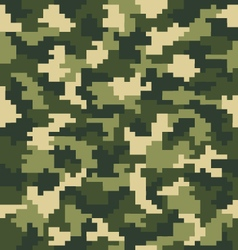 digital green camouflage vector image