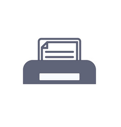 document paper print printer printing icon vector image
