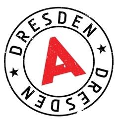 Dresden stamp rubber grunge vector