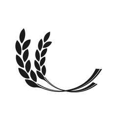 ear wheat on white background vector image