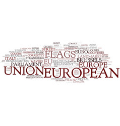 European word cloud concept vector