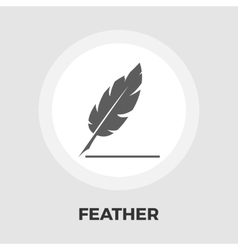 Feather flat icon vector