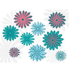 flat art daisy design template vector image