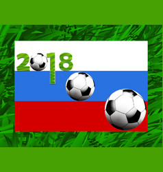 football world cup 2018 background vector image