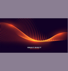 Glowing particles background with orange golden vector