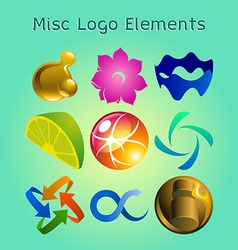 graphic logo elements vector image