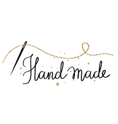 hand made -holiday hand drawn lettering vector image