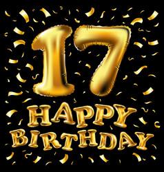 happy birthday 17 years anniversary joy vector image
