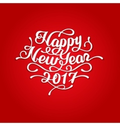 Happy New Year 2017 lettering vector