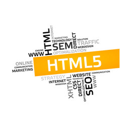 Html5 word cloud tag cloud graphic vector