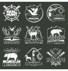 hunting club emblem set vector image