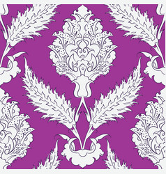 Iznik tile pattern with floral ornaments vector