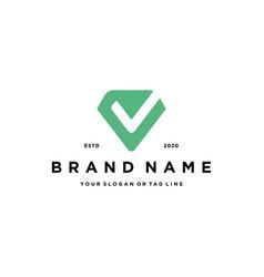 Letter v check logo design vector