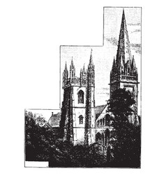 llandaff cathedral the seat of the anglican vector image