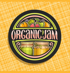 logo for organic jam vector image