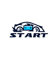 logo for the car company transport business fast vector image