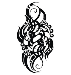 Maori styled tattoo pattern vector image vector image