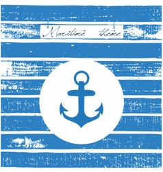 Maritime theme card vector