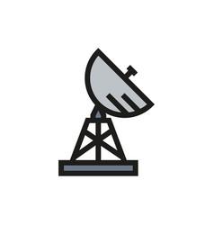 Military radar icon on white background vector
