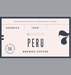 Minimal label typographic modern vintage label vector
