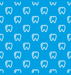 Molar pattern seamless blue vector