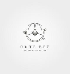 nature cute bee creative logo symbol design vector image