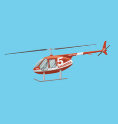 news helicopter image vector image